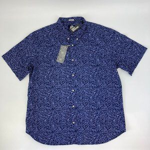 Reyn Spooner North Short Tailored Indigo Shirt 3XL